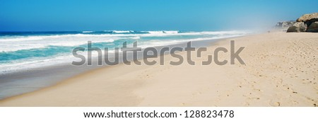 stunning beach at Praia del Rey, Portugal (panoramic picture)
