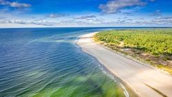Stunning beach on peninsula Hel, Baltic Sea in Poland, Europe