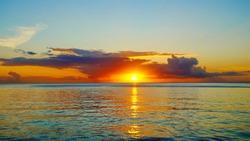 Stunning Caribbean sunset at Halifax Bay, Grenada, Caribbean Island