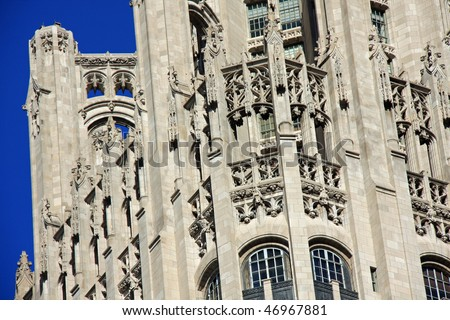 Stunning example of neo-gothic architecture with flying buttress
