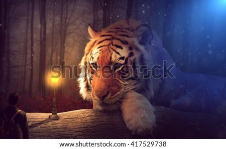 Stunning Fantasy Tiger #417529738