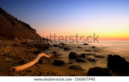 stunning HDR sunrise seascape in bulgarian Black sea