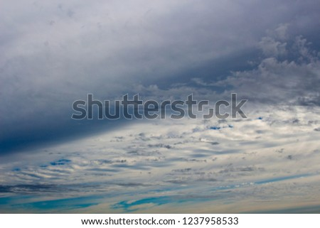 Stunning images of altocumulus, altostratus ,cumulonimbus and nimbus storm clouds  in an Australian autumn sky silhouetted against the sunlight.