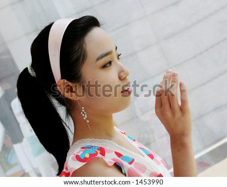 Korean Girl on Stunning Korean Girl Stock Photo 1453990   Shutterstock