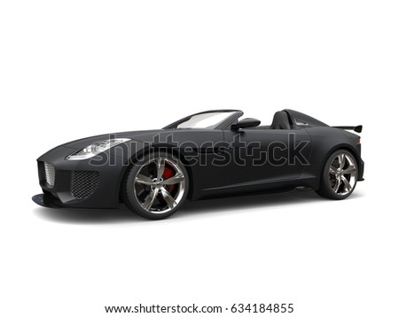 Stunning Matte Jet Black Modern Sports Car 3d Illustration Ez Canvas