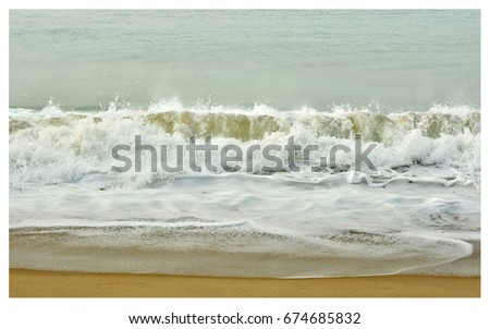Stunning seascape. Postcard. The sea and a beach. Beautiful ocean wave. Wonderful coastal view. Marine background. Sweet memories about your travel and vacation. Panoramic skyline. Amazing nature.