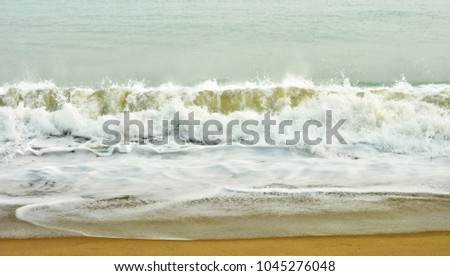 Stunning seascape. The sea and a beach. Beautiful ocean wave. Wonderful coastal view. Marine background. Sweet memories about your travel and vacation. Panoramic skyline. Amazing nature.