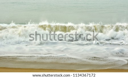 Stunning seascape. The sea and a beach. Beautiful ocean wave. Wonderful coastal view. Marine background. Sweet memories about your travel & vacation. Panoramic skyline. Amazing nature.