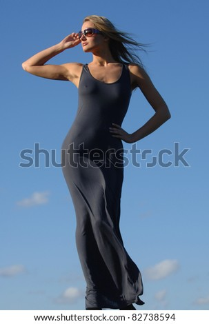Stunning Supermodel from the Baiba Collection - stock photo