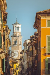 Stunning tower photo of the hectic streets of Verona