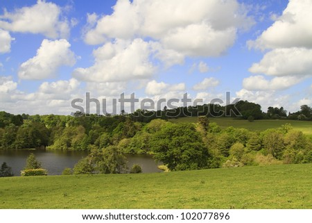 stunning view of lake and countryside in Sevenoaks in kent