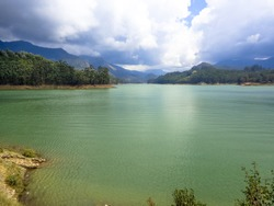 stunning view of lake, Kerala, India. Green Water view