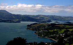 Stunning view of Otago Peninsula , South Island, New Zealand.
