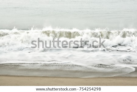 Stunning vintage of seascape. The sea and a beach. Marine background for your text. Beautiful ocean wave. Sweet memories about your travel & vacation. Panoramic skyline. Amazing nature.