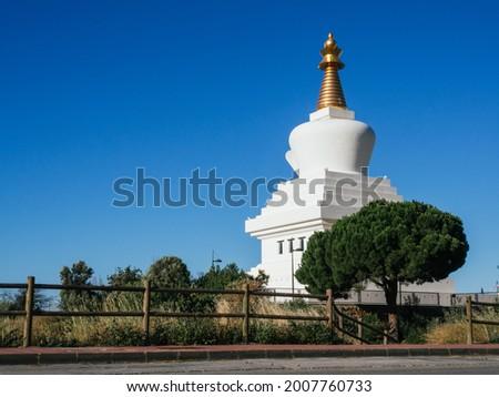 Stupa of Benalmadena on the Costa del Sol, Spain. Foto stock ©