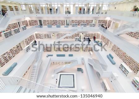 Stuttgart germany mar 23 2013 interior of new public for Interio stuttgart
