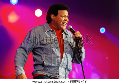 STUTTGART, GERMANY - MARCH 24: Singer Chubby Checker live in concert on stage at the festival March 24, 2012 in Stuttgart, Germany