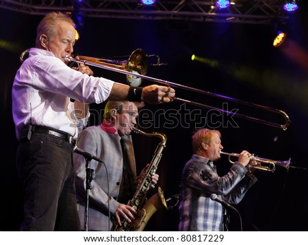 "STUTTGART - JULY 02: Group ""Chicago"" in concert at Jazzopen Stuttgart July 02, 2011 in Stuttgart, Germany."