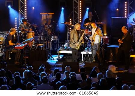 "STUTTGART - JULY 06: Group ""Klaus Doldingers Passport Today"" in concert at Jazzopen Stuttgart July 06, 2011 in Stuttgart, Germany"