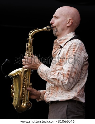 STUTTGART - JULY 06: Olaf Schoenborn in concert at Jazzopen Stuttgart July 06, 2011 in Stuttgart, Germany
