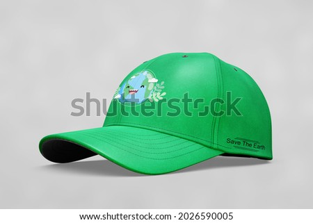 style outfit design hat. isolated on Gray. 3D illustration