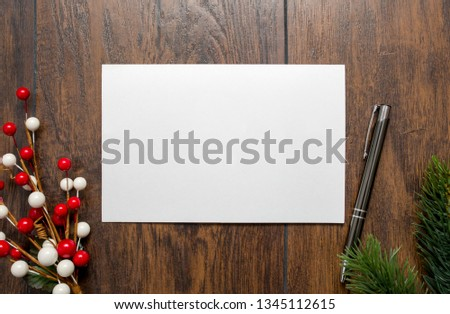 "Styled Stock Photography ""Seasonal Greetings"", Mockup-Digital File, Greeting/Invitation/Christmas Horizontal Card Mock Up #1345112615"