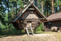 Stylised old wooden house used for children`s games.