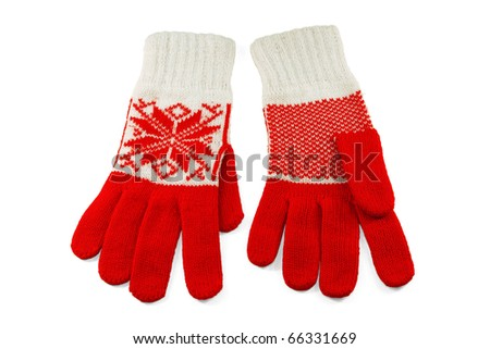 Stylish and trendy, women's wool knit gloves