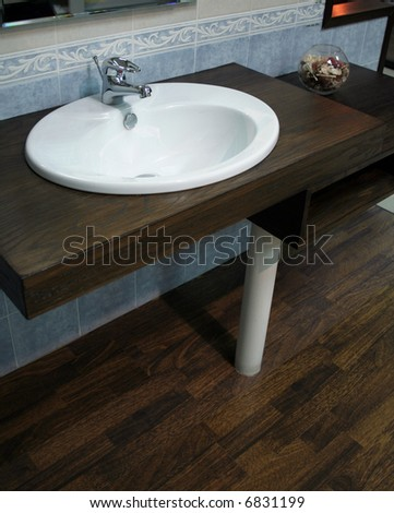 Stylish bathroom sink in an interior space