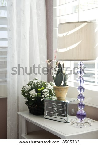 Stylish Bedroom Interior Decoration Stock Photo 8505733