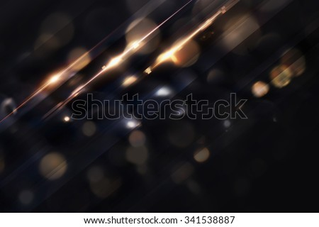 Stylish black background with particles and glow