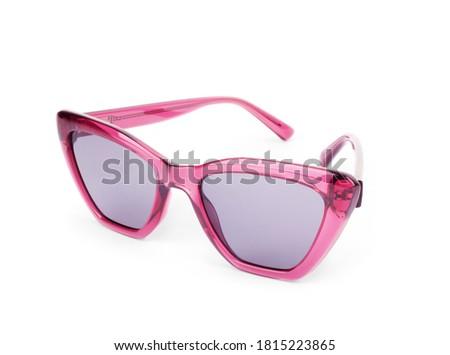 Stylish black sunglasses isolated on white background Zdjęcia stock ©