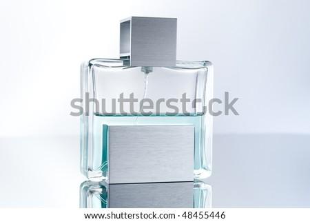 Stylish bottle of French perfume