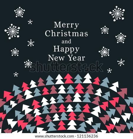 Stylish Christmas card
