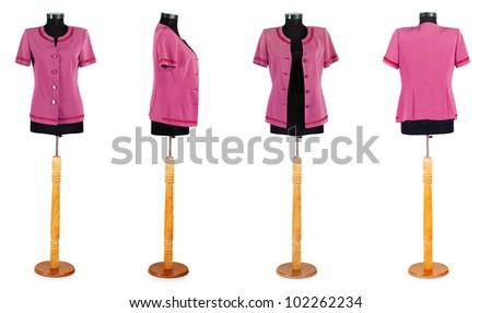 Stylish clothing isolated on the white background