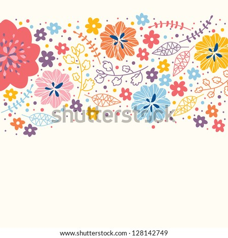 Stylish cute colorful floral  background