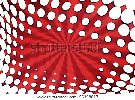 stylish dots abstract red background