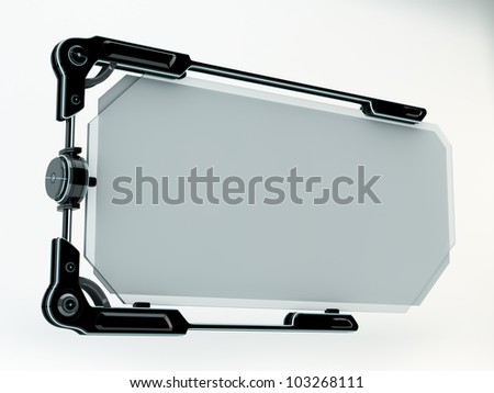 Stylish futuristic board with glass / Blank board