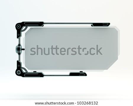 Stylish futuristic board with glass / Blank board