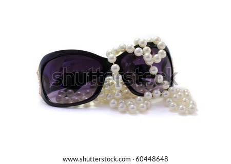 Stylish glasses with pearls
