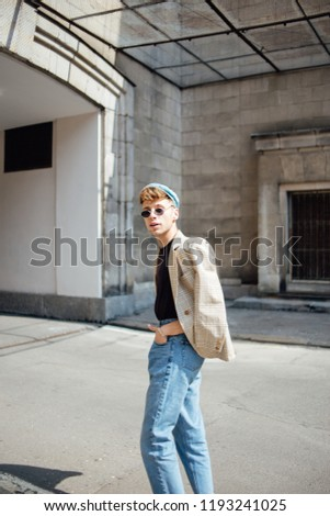 326f84199462 Free photos Portrait of a casual young man wearing jacket and cap ...