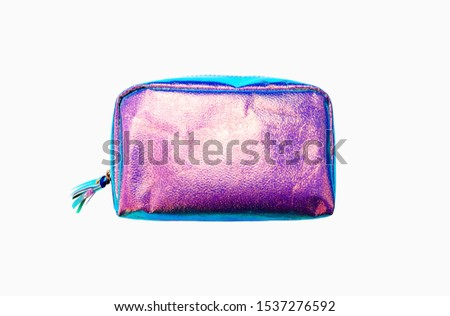 stylish holographic bag.  Minimal style. Youth style. Bright fashionable trands colors. #1537276592