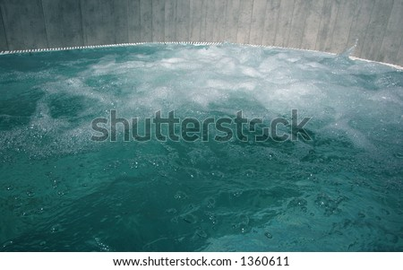 stylish hot tub at a spa - stock photo