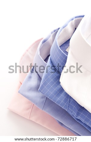 Stylish image of four shirt collars