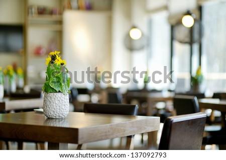 Stylish interior of a cozy restaurant