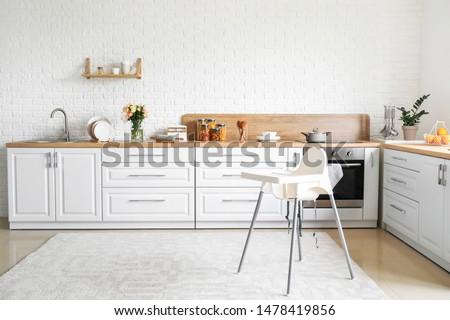 Stylish interior of modern kitchen Stock foto ©
