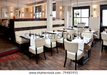 stylish interior of restaurant