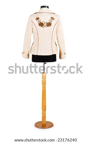 Stylish jacket isolated on the white background