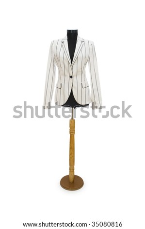 Stylish jacket isolated on the white background - stock photo