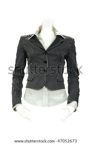 Stylish jacket with shirt isolated on the white background